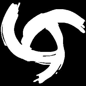 Translucent white swirl.
