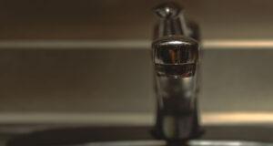 Kitchen sink faucet.